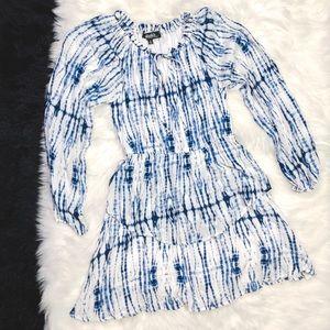 Lulu's Dresses - Lulu's Tie Dyed Off Shoulder Dress